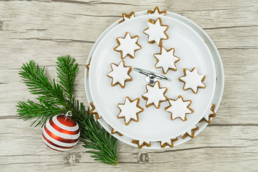 Fir Branch Pine Biscuits Cake Celebration Celebration Event Christmas Christmas Bauble Christmas Decoration Christmas Ornament Christmas Tree Cinnamon Close-up Cookie Day Food And Drink Freshness High Angle View Holiday - Event Indoors  No People Still Life Table Tradition Wood - Material