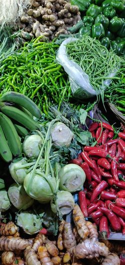 Market Vegetable Variation High Angle View Choice For Sale Raw Food Green Color Food And Drink Close-up