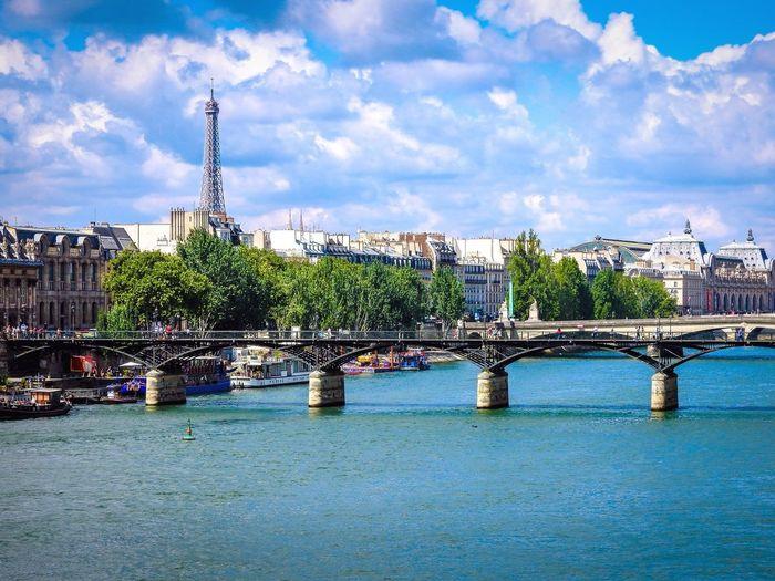 Paris Paris France River River Seine Seine Bridge Eiffel Tower Water Cityscapes Landscape Amateurphotography Travel Europe Wanderlust EyeEm EyeEm Best Shots