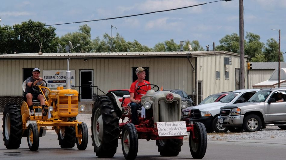 Village of Plymouth 125th Anniversary Celebration August 13, 2017 Plymouth, Nebraska Americans Camera Work Community Driving EventPhotography FUJIFILM X-T1 Kids MidWest Nebraska Plymouth, Nebraska Small Town America Summertime Takumar 135mm F3.5 Architecture Building Exterior Built Structure Day Farmers Full Length Land Vehicle Manual Focus Men Mode Of Transport Outdoors Parade Practicing Photography Real People Sky Small Town Small Town Life Small Town Stories Streetphotography Tractors Transportation
