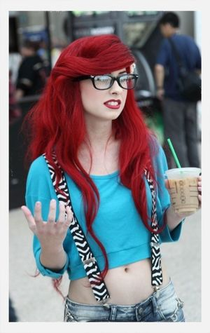 I just though of this picture that ariel of little mermaid is real. Haha. Look at ze hair, kinda similar. Right?