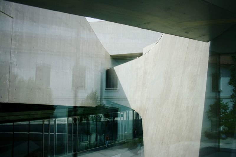 Architecture Built Structure Bridge - Man Made Structure Connection Architectural Column Modern Below No People Outdoors Day Rome Art Maxxi Museum Light Reflection MAXXI Roma Modern MAXXI Museum Rome Italy MAXXI City Indoors  Arts Culture And Entertainment Futuristic Curve Window