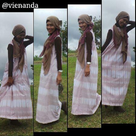 My lil sister....♥♥♥♥ dress by @dianpelangi Dianpelangipekanbaru Dianpelangi Dp Dpstyle alfanova bundang