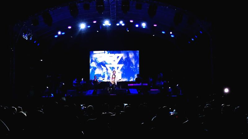 The Opm Rock Icon. Awesome lights and awesome crowd. Silhouette Illuminated Music Crowd Popular Music Concert Rock Music