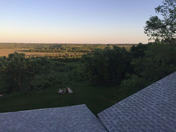 Sunset looking out over our front lawn and the Assiniboine River Valley below us. 25 Days Of Summer
