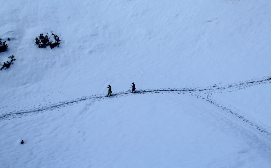 A Bird's Eye View Alps Austria Cable Climbing Cold Connection Extreme Close-up FootPrint Footprints High Angle View Hiking Inssbruck Outdoors Snow Travel Travel Photography Traveling