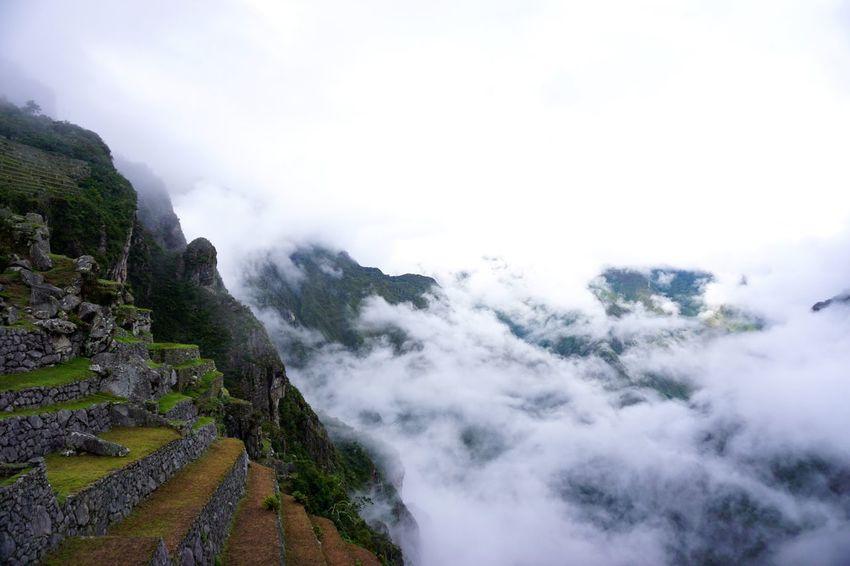 Traveling Peru Nature Mountains Inca Macchu Picchu Macchupicchu Mysterious Landscape Clouds