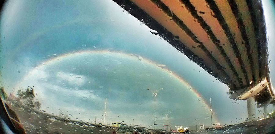 Arco de lluvia! Rainbow road! Alfredbass Arco Iris Rainbow On The Road