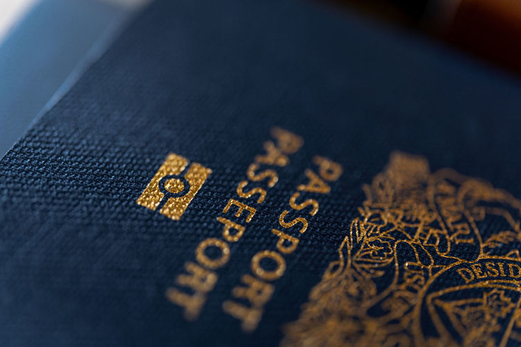 Canadian Passport Full Frame Close-up Studio Shot Passports Passport Canada Travel Destinations Borders Customs Government Documentary