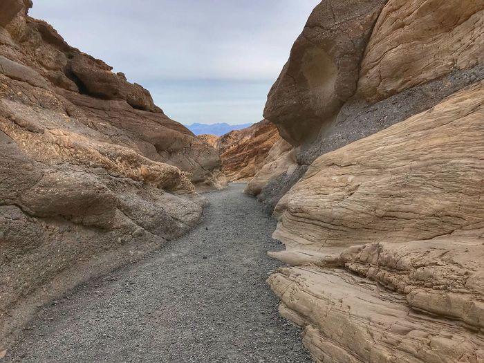 Rock Formation On Land Against Sky