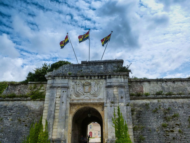 Castle Castle Ruin Castle Walls Charente Maritime Charente Maritime Charentemaritime Cloads Clouds And Sky Europe Flags Fortification Fortress Fortress In Europe Fortress Wall France Gate Gateway Ile D'Oleron Le Chateau D'oleron Stronghold
