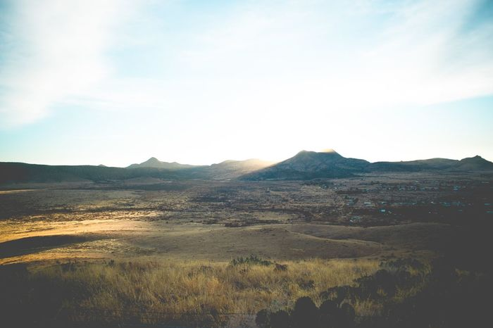 Landscape Scenic West Texas Mountain Beauty In Nature Tranquil Scene Mountain Range Day Sky Grass