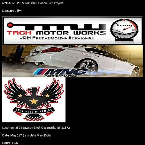 Its on. See everyone there Nycalive Mncperformance Realautodynamics Tachmotorwerks @mncperformance @realautodynamics @tachmotorworks lawsonblvdproject lawsonblvd fortheloveofeverythingcars bbq tristate bmwmnation subie mitsubishi jdm honda nissan sti evo e30 e92 e90 exotics