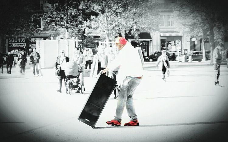 Music Street Peoplestreet Blackandwhite
