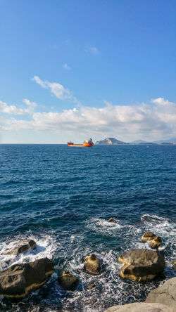 view in Pozzuoli with industrial ship in the bay Bay Of Naples Bay Of Water Beauty In Nature Blue Cloud - Sky Day Horizon Over Water Industrial Ship Napoli Nature Nature No People Outdoors Pozzuoli Pozzuoli, Sunset, Rock - Object Scenics Sea Ship Sky Tranquil Scene Tranquility Water