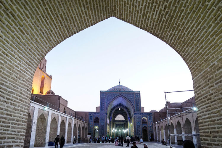 Travel Destinations Travel Photography Iran Shia Community Nomadic Zoroastrian Islamic Architecture Architecture Built Structure Building Exterior Arch Religion Sky Spirituality Belief Incidental People Tourism Building Place Of Worship Travel Clear Sky City Nature Outdoors Arched