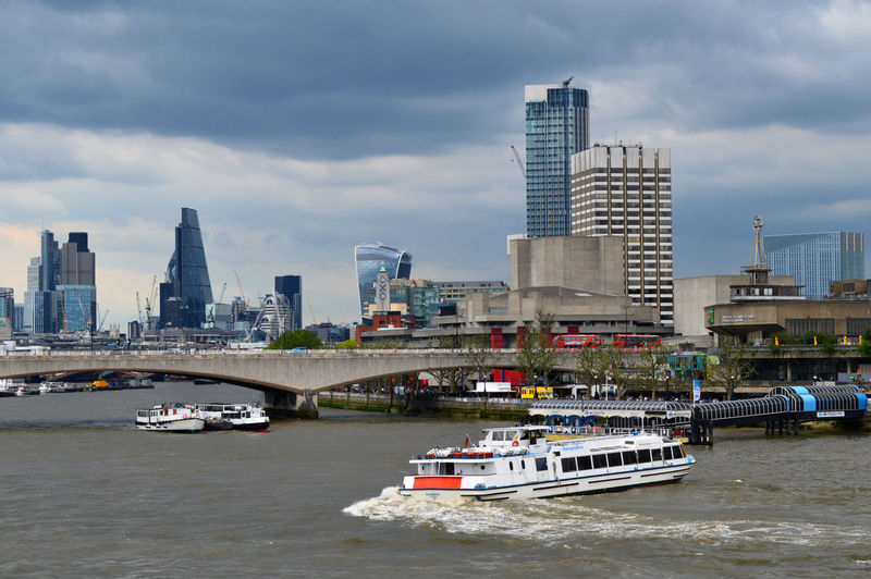 Architecture Boat Bridge City City Life Cloud Cloud - Sky Clouds Cloudy Day England Enjoying Life Hightowers London Nikon D3200 Office Building Outdoors River Sky Transportation Traveling Weather End Plastic Pollution