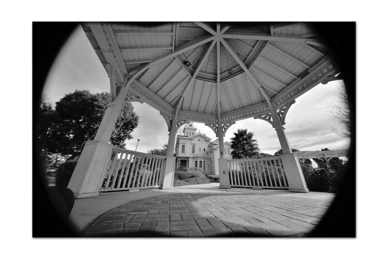 Meek Mansion & Gazebo 1 Cherryland,Ca. 10 Acre Estate Built 1869 Owner: William Meek Meek Arrived On West Coast In 1846 Fruit Seeds Grafted Trees Meek Owned 3,000 Acres Orchards: Cherry,Apricots, Plums,Almonds Monochrome_Photography Monochrome Architecture Victorian Architecture_collection Style : Second Empire Italian Villa Mansion 7,902 Sq.ft. 27 Rooms And 3 Floors Black & White Black & White Photography Black And White Collection  Black And White Bnw_friday_eyeemchallenge Cupola Gazebo Carriage House