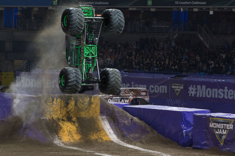 Jump Monster Jam Monster Trucks Day Large Group Of People Men Outdoors People Real People Truck Trucks