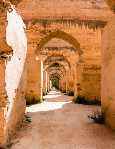 Meknès Morocco Arch Archaeology Architecture Built Structure History Ruined Stable Stables The Past Travel Destinations