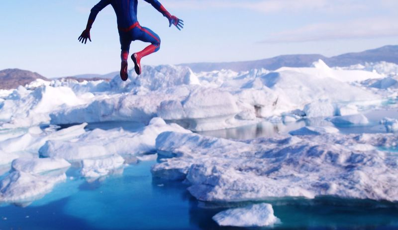 Naturephotography Toyphotography Toy Photography Toys Spider-man Spiderman Hot Toys The Real Greenland Toy Nature Check This Out Iceberg Icebergs Jump