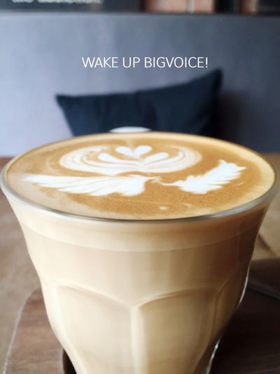 WAKE UP BIGVOICE ! Get urself out of bed Good Morning Hello World Coffee Life Begin After Coffee Beginning Life Latte Latteart Energy Bigvoiceplace