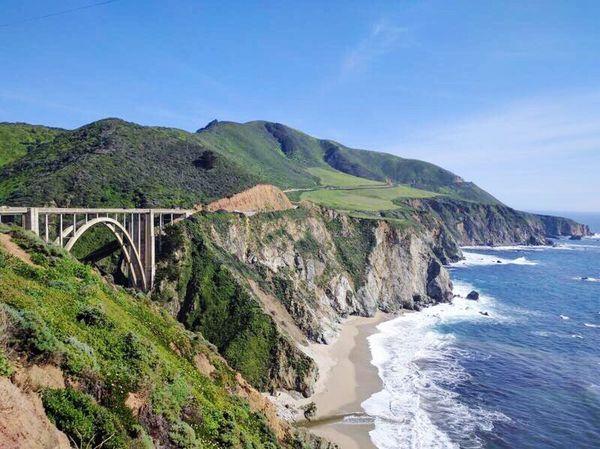 Bridge - Man Made Structure Water Built Structure Scenics Landscape Travel Destinations Cliff Beauty In Nature