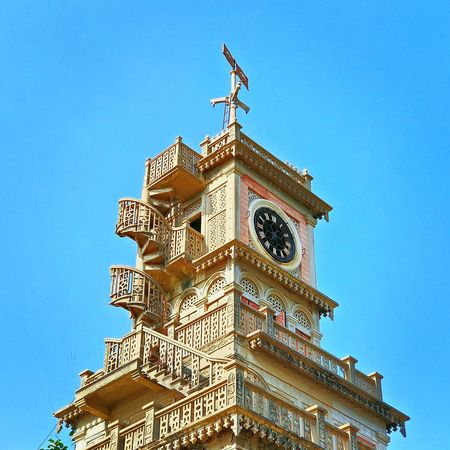 History Clear Sky Blue Clock Tower Travel Destinations NeverSettle Outdoors Clear Photo Traveling Photooftheday Wallpaper Photography Souls Clock Face Day Sky Cool