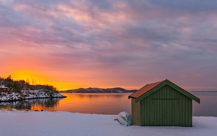 Trondheimsfjorden Sunset_collection Sunset Winter Nature Sky_collection Water_collection Water Reflections Sunset Sky Beauty In Nature Tranquility Tranquil Scene Built Structure Cloud - Sky Nature Water Winter Snow Sea Outdoors