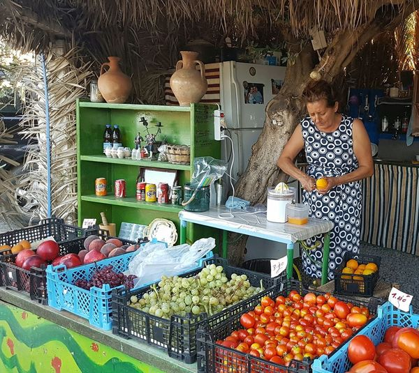 Freshness Food And Drink Food Variation Market Retail  Choice Healthy Eating Large Group Of Objects Vegetable Abundance For Sale Built Structure Market Stall Architecture Repetition Day Green Color Buying Person греция родос Греция