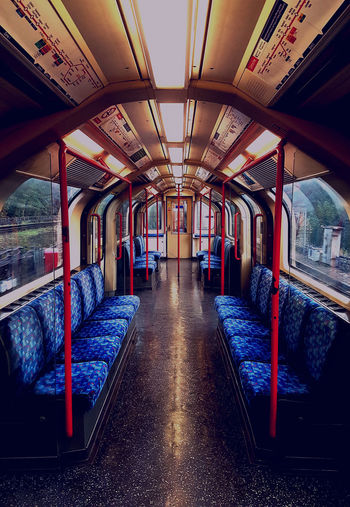 Symmetry Design Interiors Tubetrain London Public Transportation Subway Train Capturing The Moment On The Move Coloursplash Passing Through Full Length