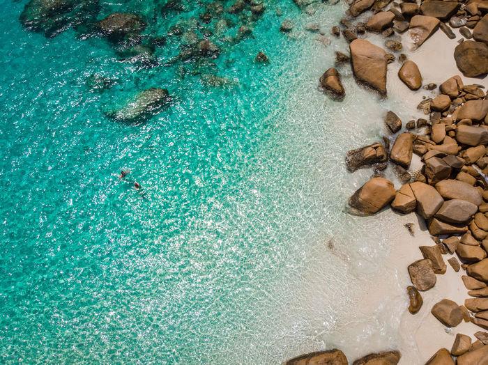 High Angle Scenic View Of Sea