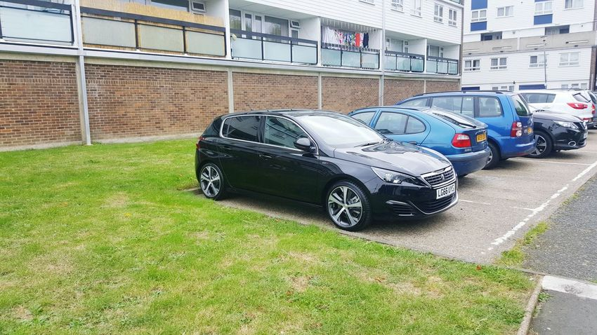 My new car finally in its home parking spot Car Parking Outdoors Parked No People Day Mode Of Transport Peugeot Peugeot308