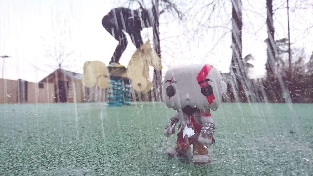 Kratos Funkokratos Funkopop Funko Pop Vinyl Funko Raining Day Rain