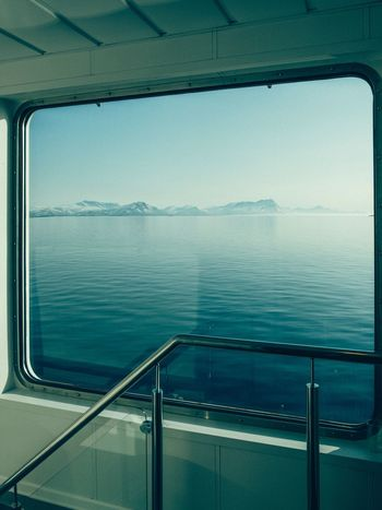 Minimalism Minimal Norway Sea Water Railing Transportation Mode Of Transportation No People Blue Nautical Vessel Nature Horizon Over Water Horizon Sky Day Travel Scenics - Nature Outdoors Ship