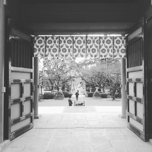 Entrance to Fujisan, Real People Photography Blackandwhite Photography Blackandwhite Entrance Architecture