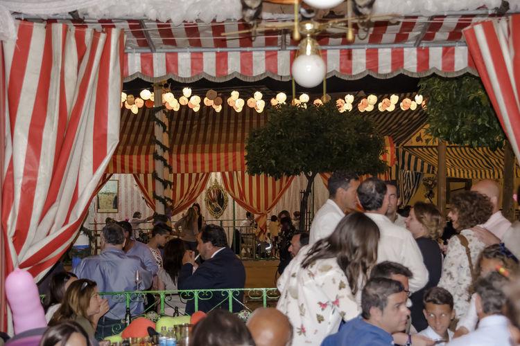 Feria De Sevilla 2017 Lights Lamps Fans Curtains Built Structure Indoor Night People The Photojournalist - 2017 EyeEm Awards EyeEmNewHere Break The Mold Capture The Moment EyeEm Diversity EyeEm Gallery Sevilla Spain