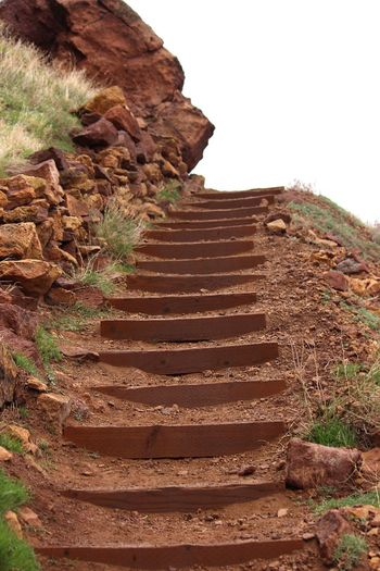 Steps Staircase Steps And Staircases Rock - Object Brown Ancient Low Angle View History Climbing Arid Climate Desert No People Nature Day Outdoors Sky Smith Rock PNW Oregon Oregonexplored Central Oregon Rockhound Nature Landscape Beauty In Nature Let's Go. Together.