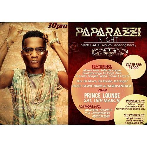 Paparazzi Night with LACE this saturday @ Prince Lounge Invitation Lace Paparazzinight Graphicsdesign jiniuskonxepts