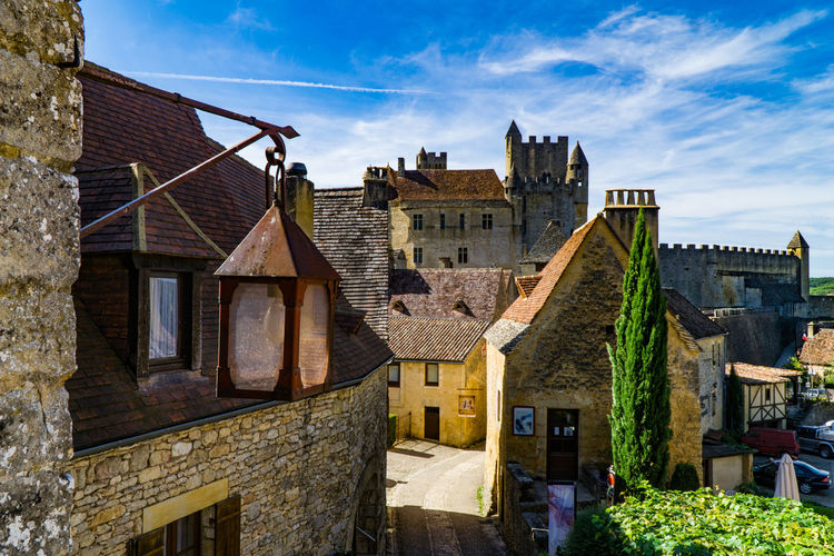 Beynac Castle, France Architecture Beynac Castle Beynac-et-Cazenac Building Exterior Built Structure City Day House Medieval No People Outdoors Residential Building Sky Stone Street