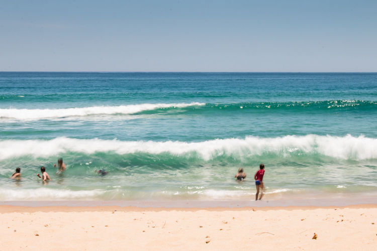 à la plage Green Nature Sunlight Vacations Beach Long Exposure Outdoors People Swimming Sea Slow Shutter Summer Waves Waves Crashing The Great Outdoors - 2018 EyeEm Awards