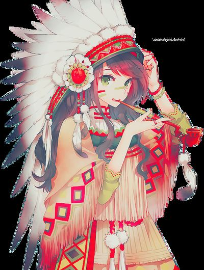 Indian Chieftess Indian Girl Peace Pipe