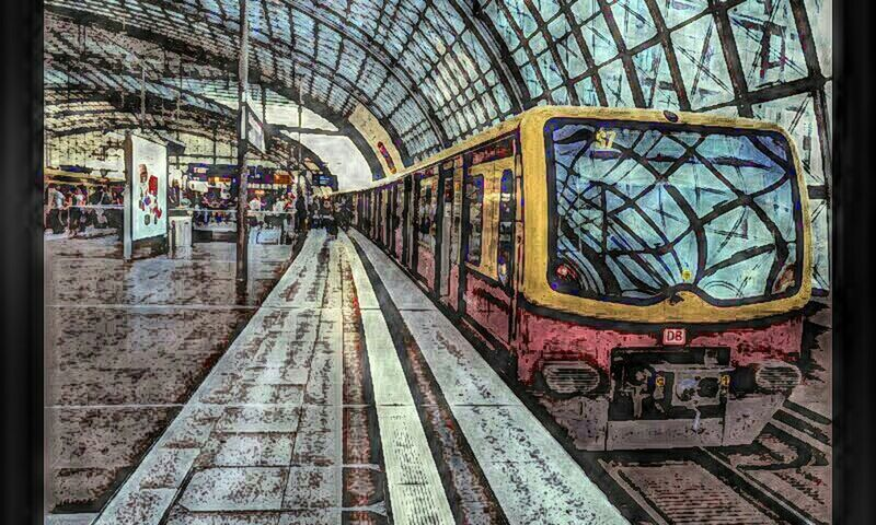 Sketching the train Reflections Perspectives Trainstation Soistberlin  Sketch The Train