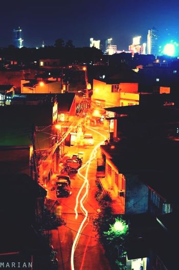 Goodnight ? Nightphotography Night Lights Philippines Eyeem Philippines Night View Rooftop View  2015  Light Lines Mandaluyong