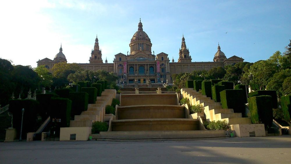 Palau Nacional #art #barcelona #earlymornings  #Museu Nacional D'Art De Catalunya #museum #palace #spain #Sunday #wandering Architecture Building Exterior Built Structure Day History No People Travel Destinations