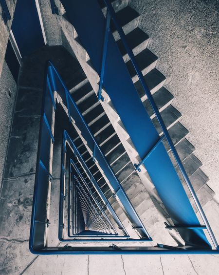 EyeEm Selects Architecture Day Built Structure High Angle View No People Sunlight Staircase Pattern Building Steps And Staircases