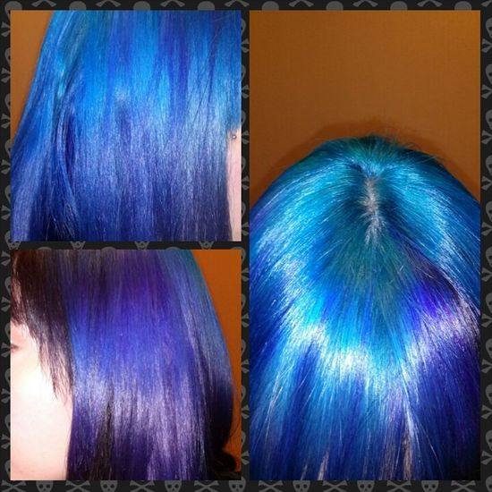 Freshly died hair feels so good! Blue Hair