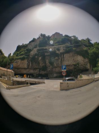 No People Mountain Landscape Architecture Building Exterior History Travel Destinations Ragusa Ibla, Sicily Italy 🇮🇹 HuaweiP9Photography Ancient Cavern Growth Fish Eye Street Photography