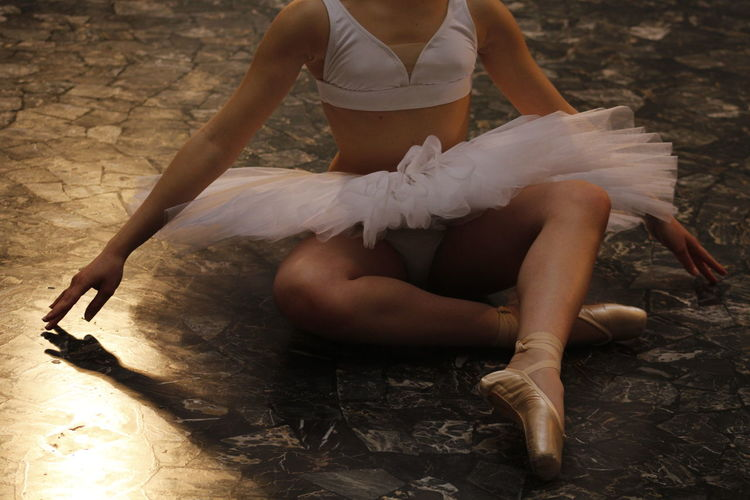 Close-Up Of Ballet Dancer