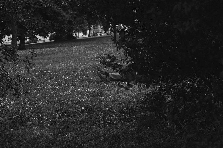Blackandwhite Day Grass Legs Lifestyles Prague Real People Street Streetphotography